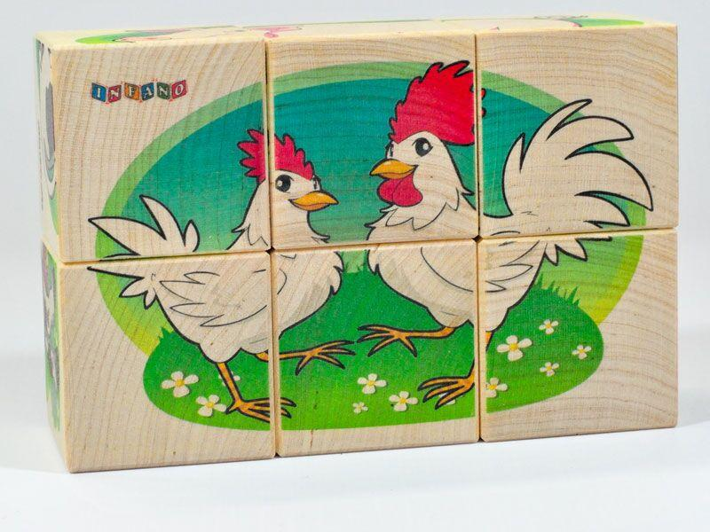 Wooden blocks Farm animals