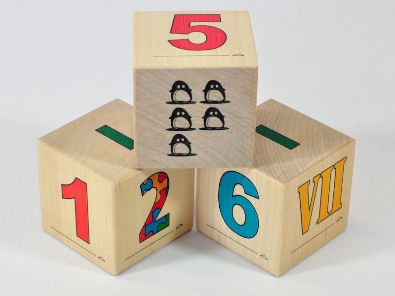 Wooden blocks Numbers