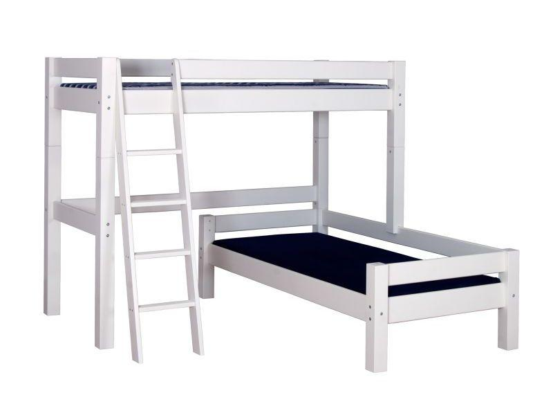 Bunk Bed LAHE with Corner Design, white