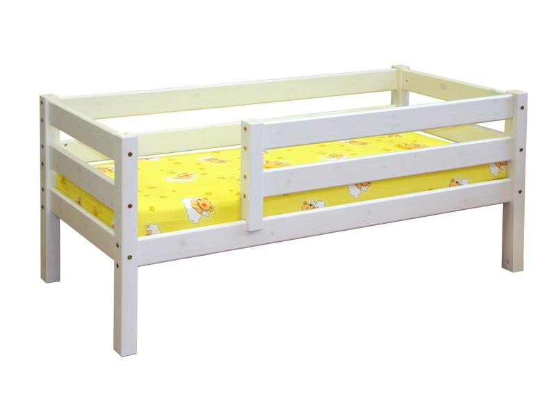 Kids Bed LIISA with safety rails, white