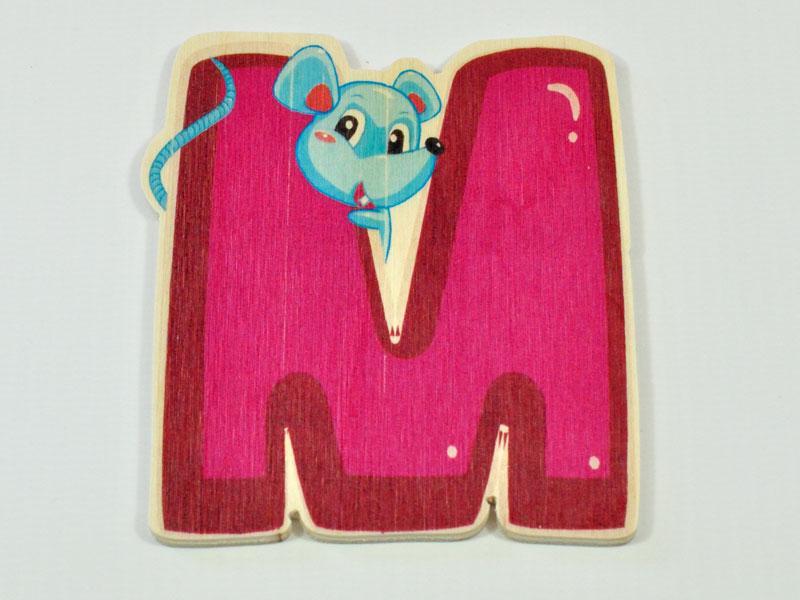 Wooden letter ANIMAL