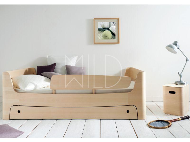 Подростковая кровать WILD с выдвижным ящиком и рельсом безопасности