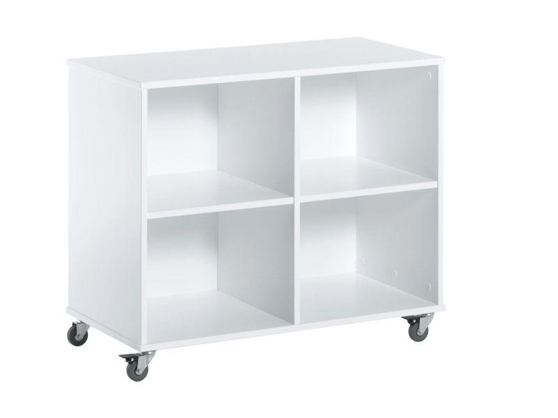 Drawer on wheels 62,5x41,5x69 white