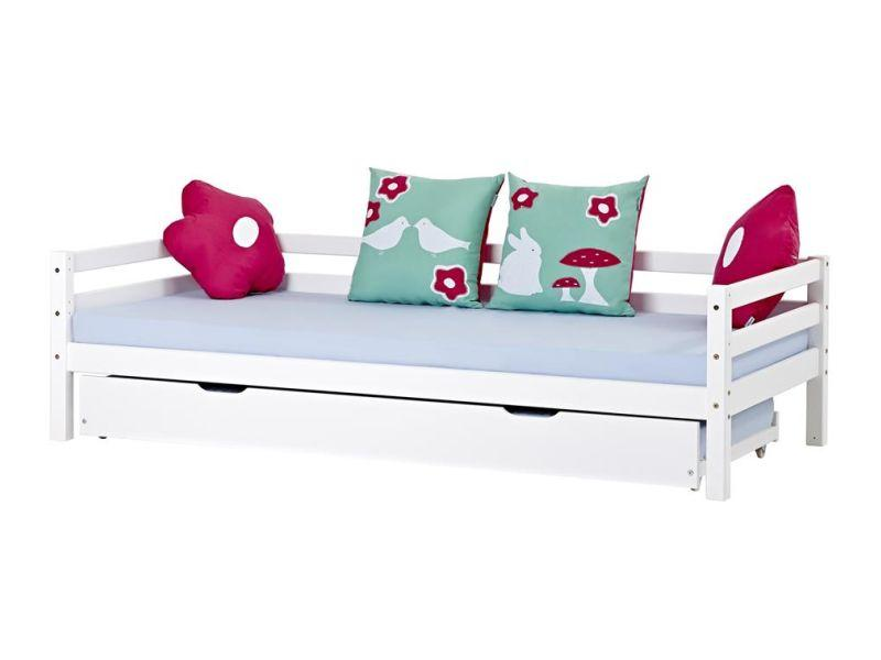 Pull-out bed on wheels 70x190 white