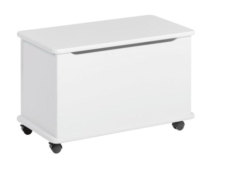 Playchest on wheels, white