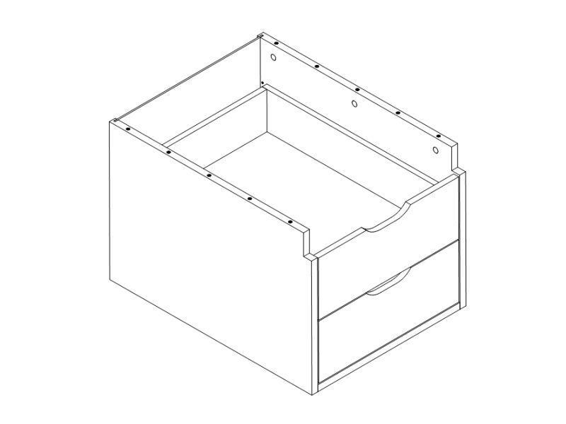 Тумба 2 ящика для стол MAJA