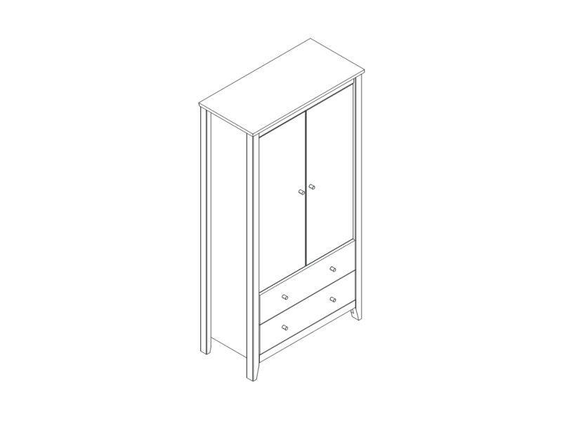 Двери в гардероб HANS