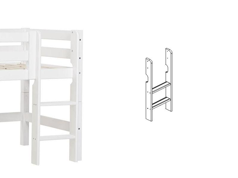 PREMIUM Ladder for half high bed - straight - white