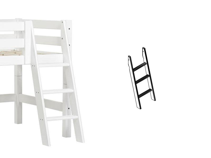 PREMIUM Ladder for half high bed - slant - white