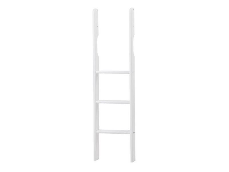 PREMIUM Ladder for bunkbed and mid high bed - straight - white