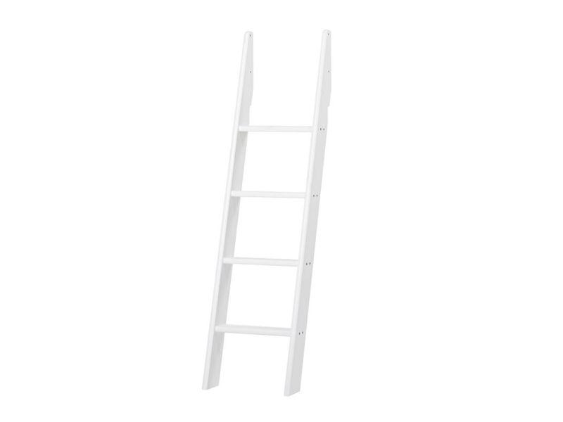 PREMIUM Ladder for bunkbed and mid high bed - slant - white