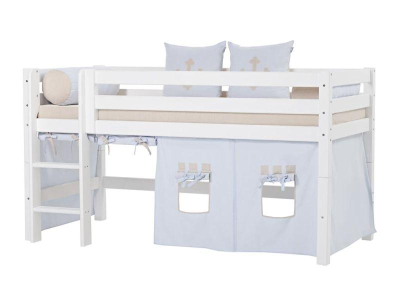 PREMIUM half high bed 90x200cm - white