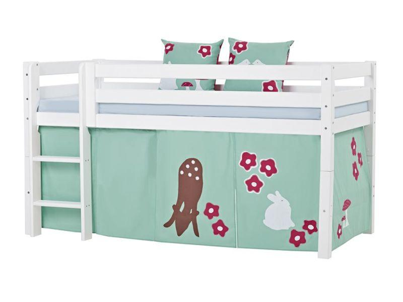 Poolkõrge voodi PREMIUM 90x200 valge