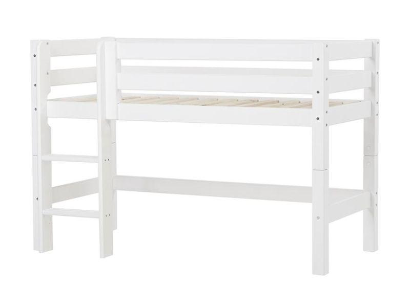 PREMIUM half high bed 70x160cm - white