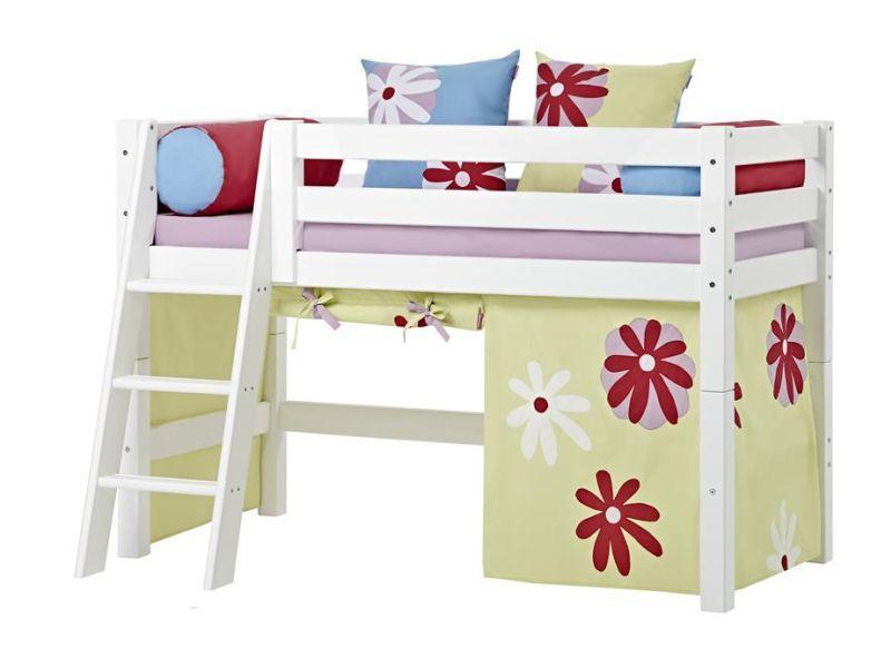PREMIUM Halbhohe Bett 70x160 mit Schräge Leiter