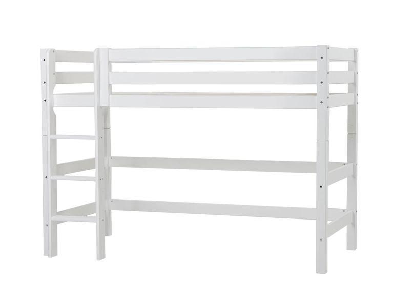 PREMIUM mid high bed 90x200 cm, White