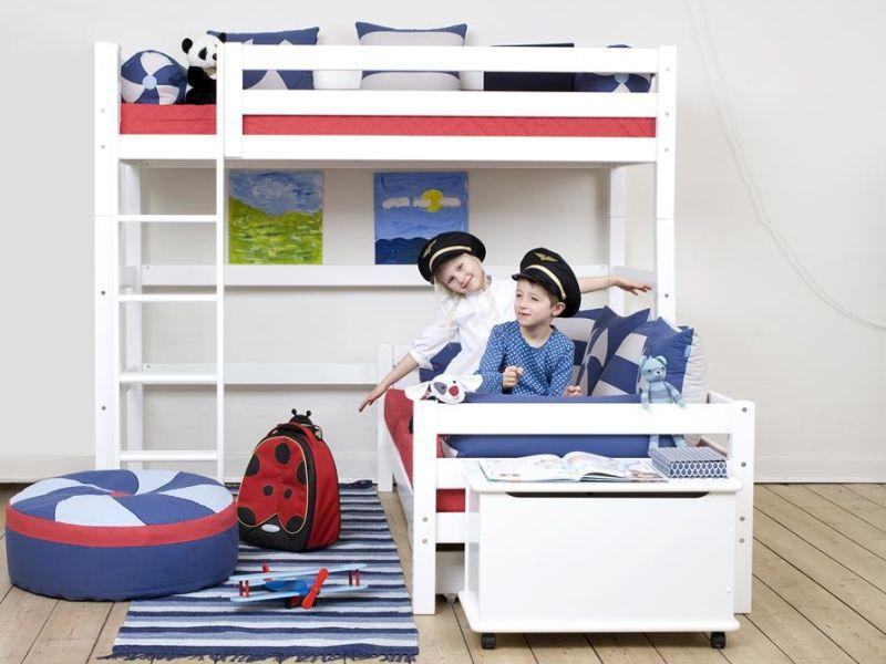 PREMIUM Bunk bed Angle 90x200cm - white