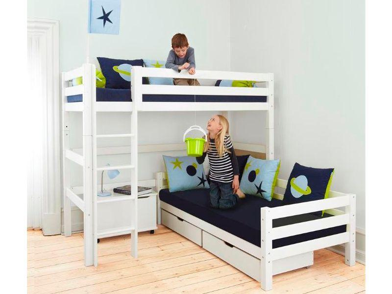 PREMIUM Highbed angle 90x200 with slant ladder