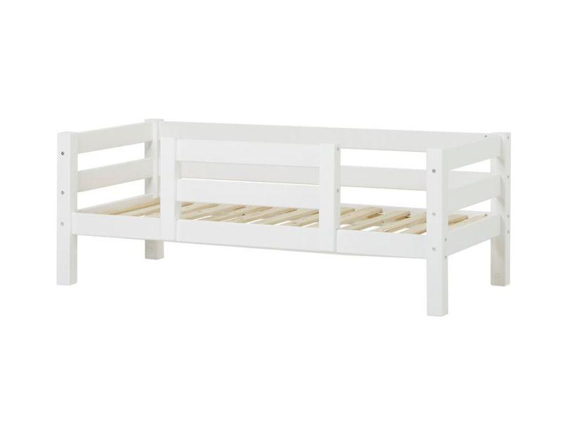 PREMIUM Junior bed 70x160cm with 1/2 safety rail - white