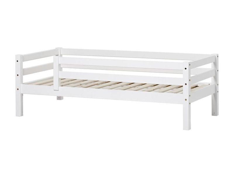 Esi- ja tagapiirdega voodi BASIC 90x200 valge