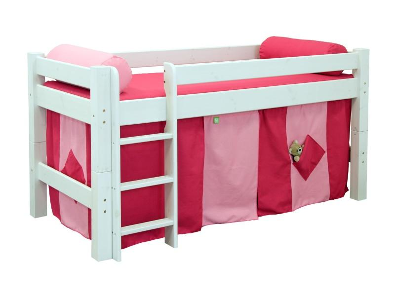 Halfhigh bed Lahe white