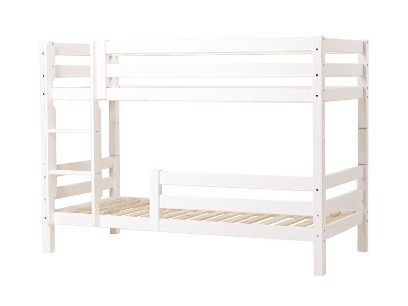 PREMIUM Bunk bed 90x200 cm with two safety rails - white