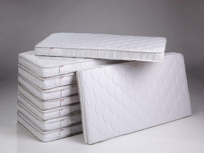 Fiberblock mattress with quilted cover