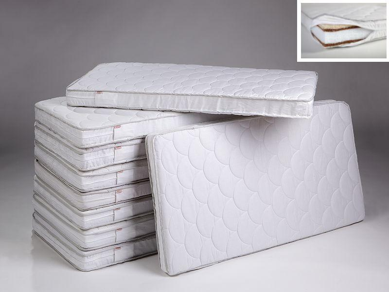Fiberblock-cocos mattress with quilted cover