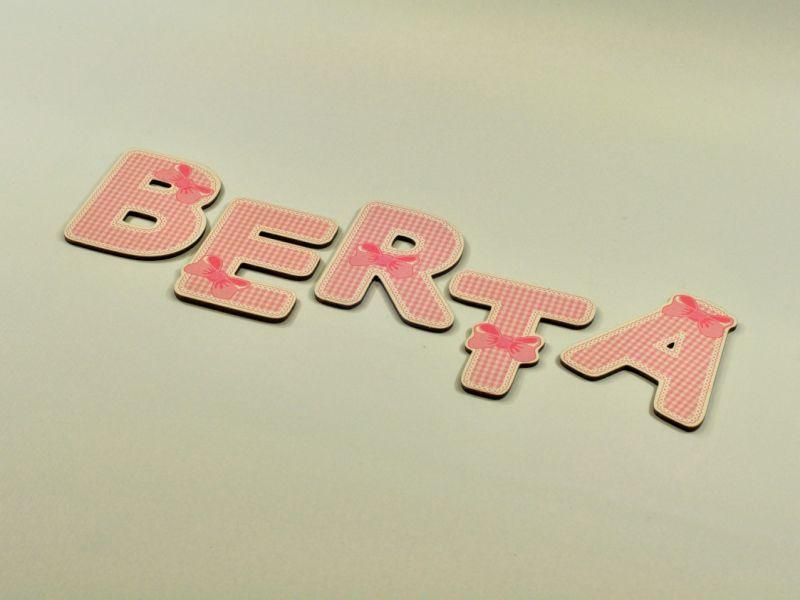 Wooden letter Berta