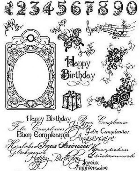 Silikon tempel, VivaDecor 4003 017 00, Happy Birthday