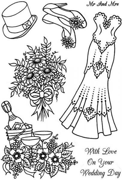 Silikon tempel, Crafty Impressions, CICSA6233, Wedding Day Love