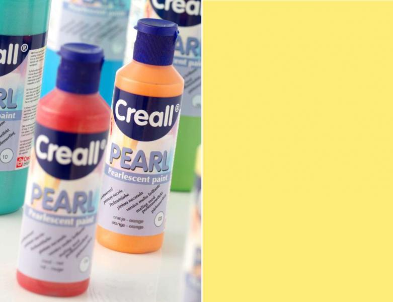 Creall Pearl Pearlescent paint 01 yellow 80ml