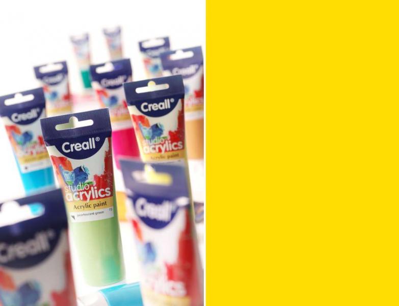 Creall Studio acrylic paint 06 primary yellow 120ml