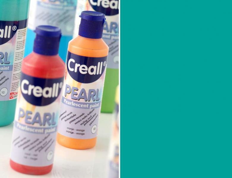 Creall Pearl Pearlescent paint 10 bluegreen 80ml