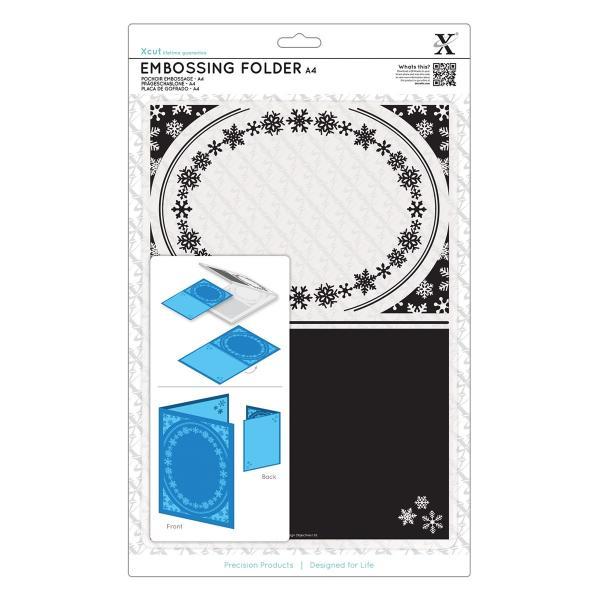 Xcut, pressplaat A4, Snowflake Frame