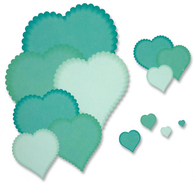 Presscut - Smaller Scalloped Heart Nesting Dies (13pcs)