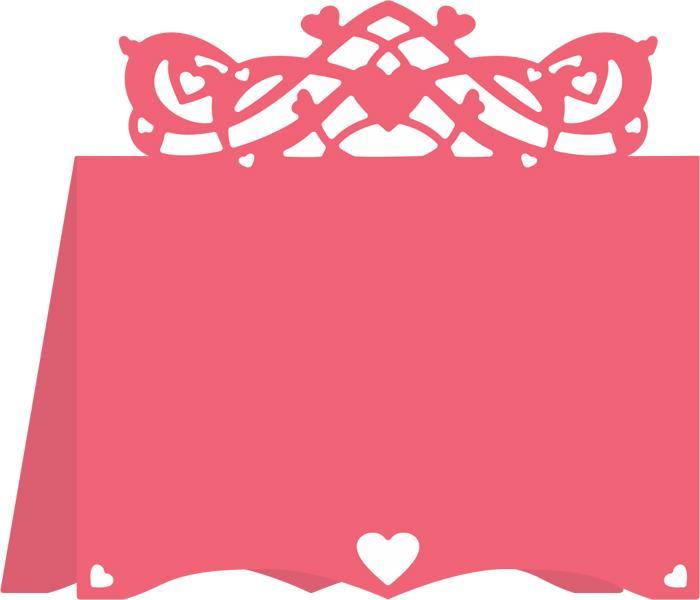Cheery Lynn Designs Dies - Hearts Flourish Placecard #3