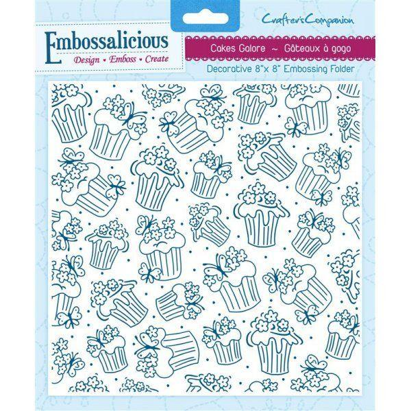 Crafters Companion Embossalicious 20x20cm Cakes Galore