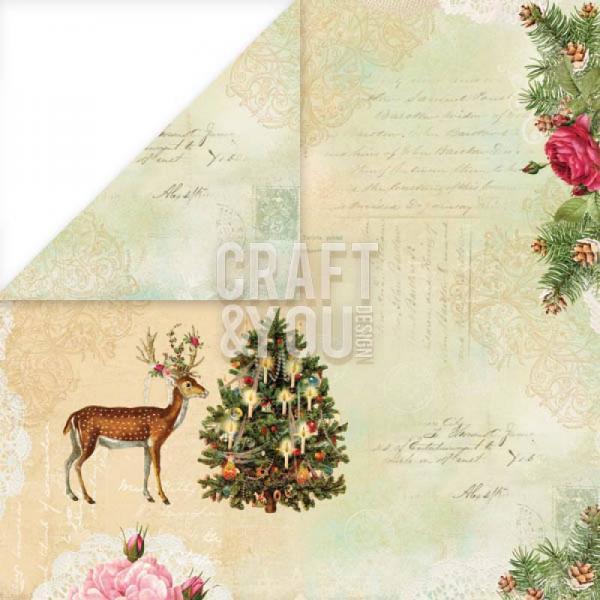 Disainpaber 30x30 Craft&You Christmas Story 06