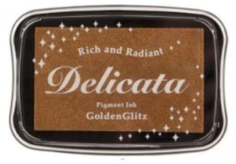 Delicata inkpad Metallic Golden Glitz