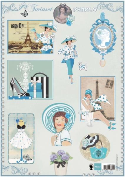 Marianne Design Fotokollaaž A4 Twinset pearls