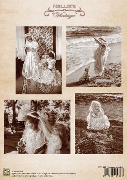 Nellie`s Choice Decoupage 1sheet vintage summer wedding A4