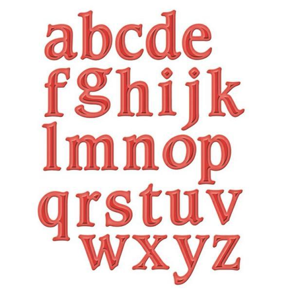 Spellbinders Font One - Lowercase