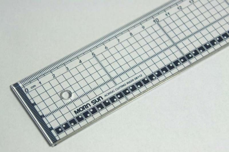 Ruler transparant 40cm with metal edge