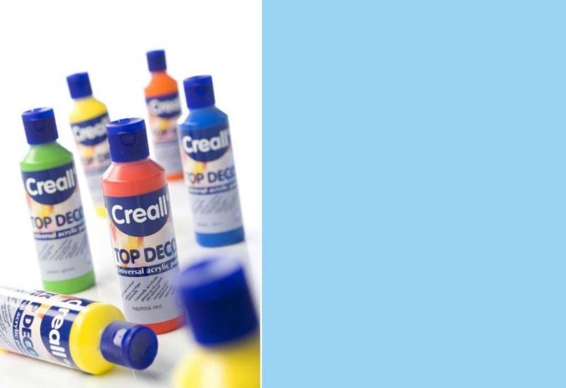 Top deco universal acrylic paint baby blue 80ml