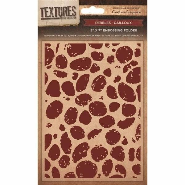 Crafter's Companion Embossing Folder Pebbles