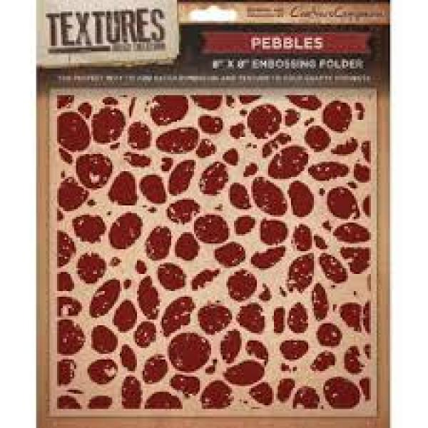 Crafters Companion - Embossing Folder Pebbles
