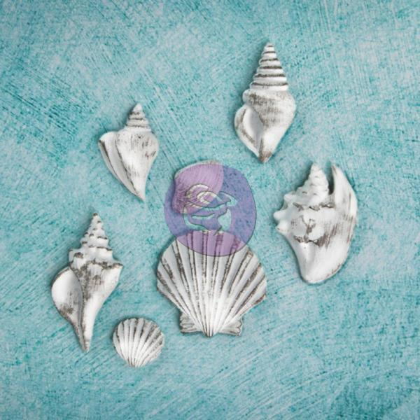 Prima Marketing Shabby Chic Treasures Sea Shells 7 tk kompl