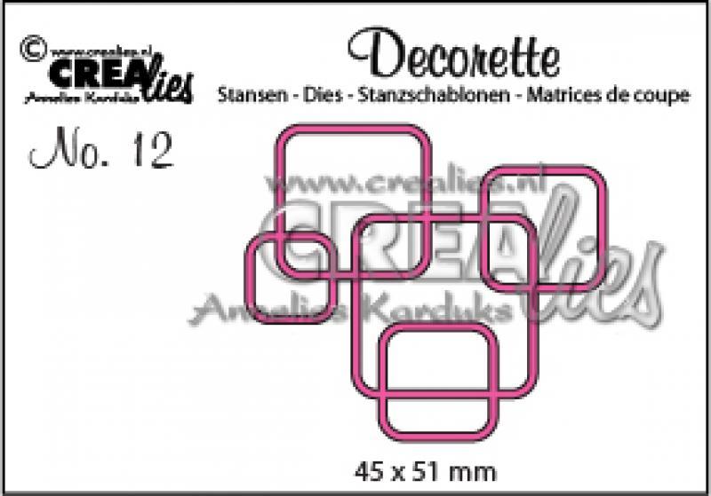 Crealies Decorette no. 12 interlocking rounded squares