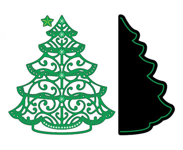 Cheery Lynn Designs Dies Christmas Tree